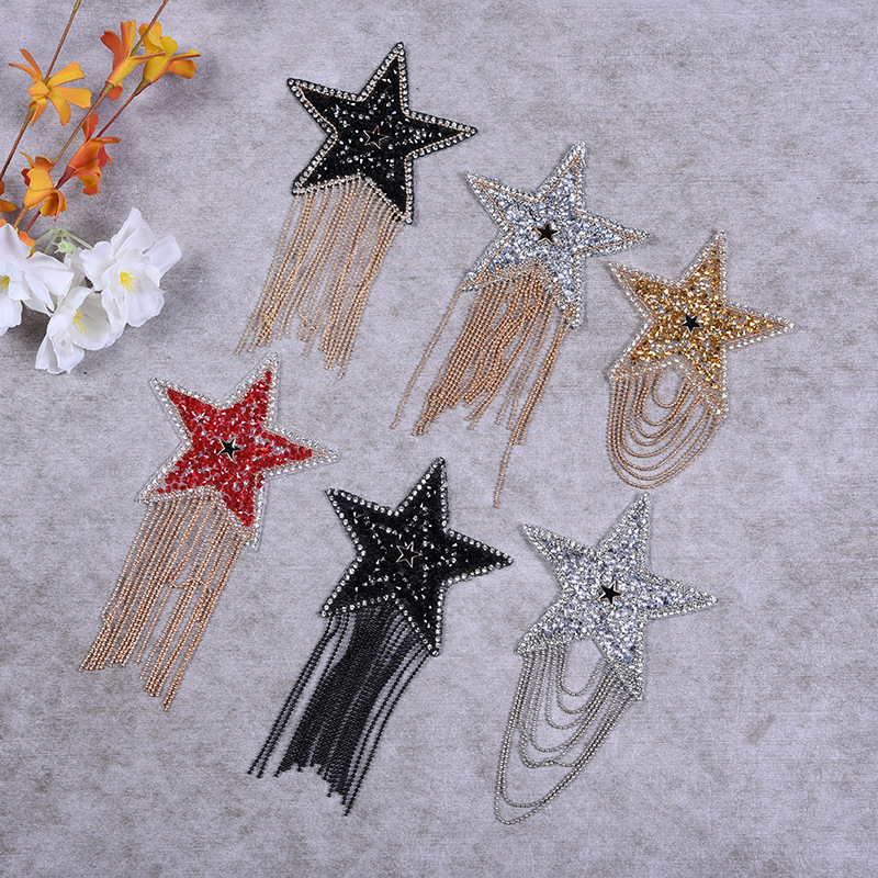 Tassel Inlaid Diamond Ironing Pattern Clothing Hat Ironing Diamond Accessories Cloth Sticking Embroidery Factory Direct Sales
