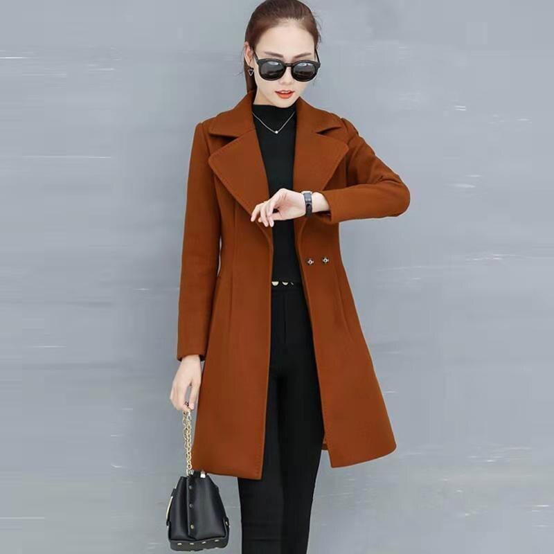 Femmes hiver laine Long Cardigan Manteau avec ceinture laçage ouvert Manteau épaissir décontracté dames veste manteaux 2019 femme mode Manteau