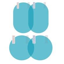 2Pcs Auto Antipioggia Pellicola Auto Membrana Pellicola Specchietto retrovisore Pioggia di Protezione A Prova di Anti Nebbia Impermeabile Accessori Auto
