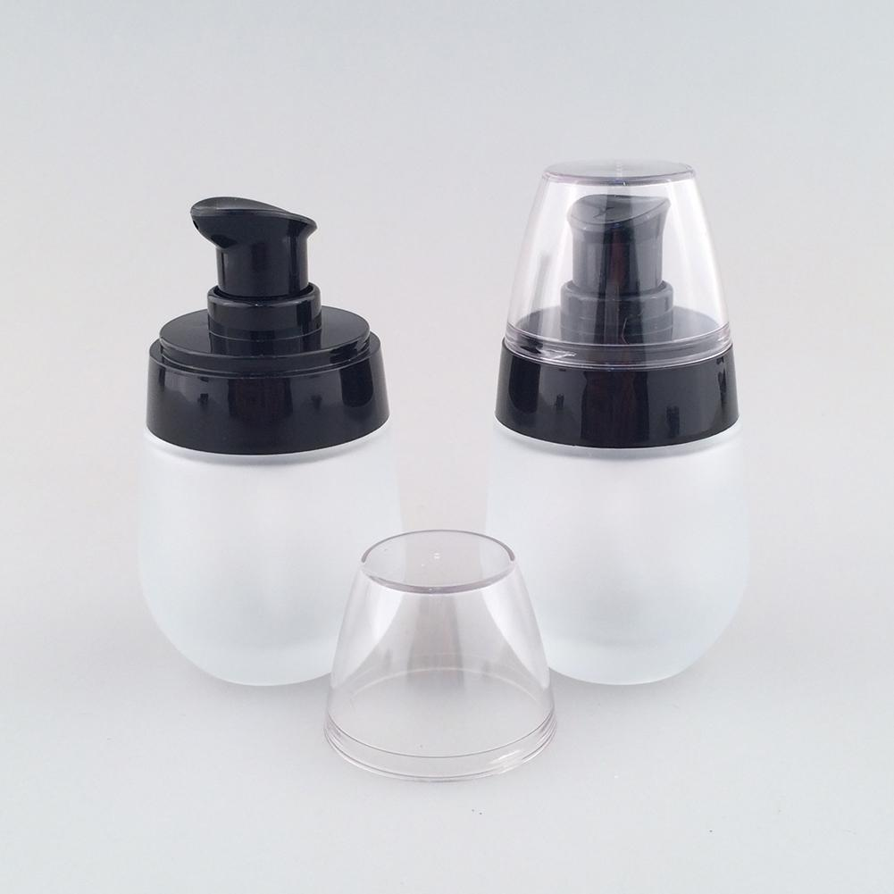 Clear Glass Empty Bottles Refillable Travel Press Pump Cream Lotion Dispenser Cosmetic Container Spray Bottles For Travel