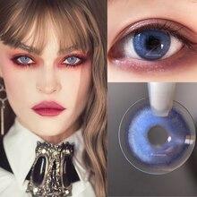 2 шт./пара цветные контактные линзы для глаз контакты Цветной глазные линзы цветные контактные линзы ежегодно UYAAI линзы синего, коричневого ...