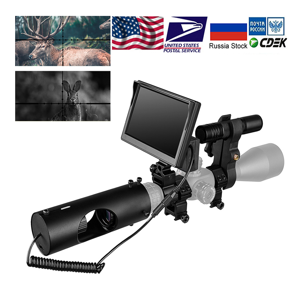 5 Inch 850nm Infrared LED IR Night Vision Rail Scope Riflescope Cameras Hunting