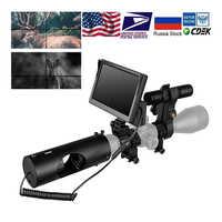 Luneta z noktowizorem lunety myśliwskie optyka Sight Tactical 850nm podczerwieni LED IR wodoodporna kamera noktowizyjna kamera myśliwska
