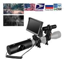 Mira telescópica de visión nocturna para caza dispositivo de visión nocturna resistente al agua, 850nm