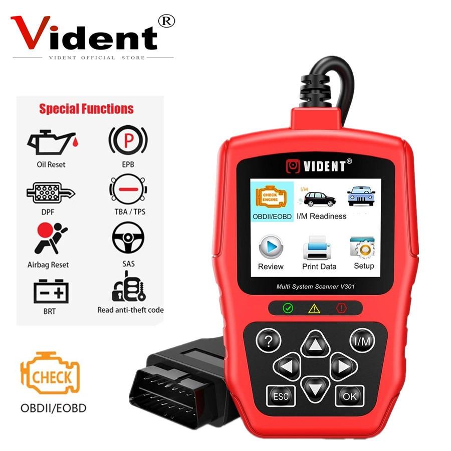 Vident For V-A-G V301 Full System OBD2 Scanner For V-W /Audi /Skoda /Seat Car Diagnostic Tool With SAS EPB DPF Oil Battery Reset
