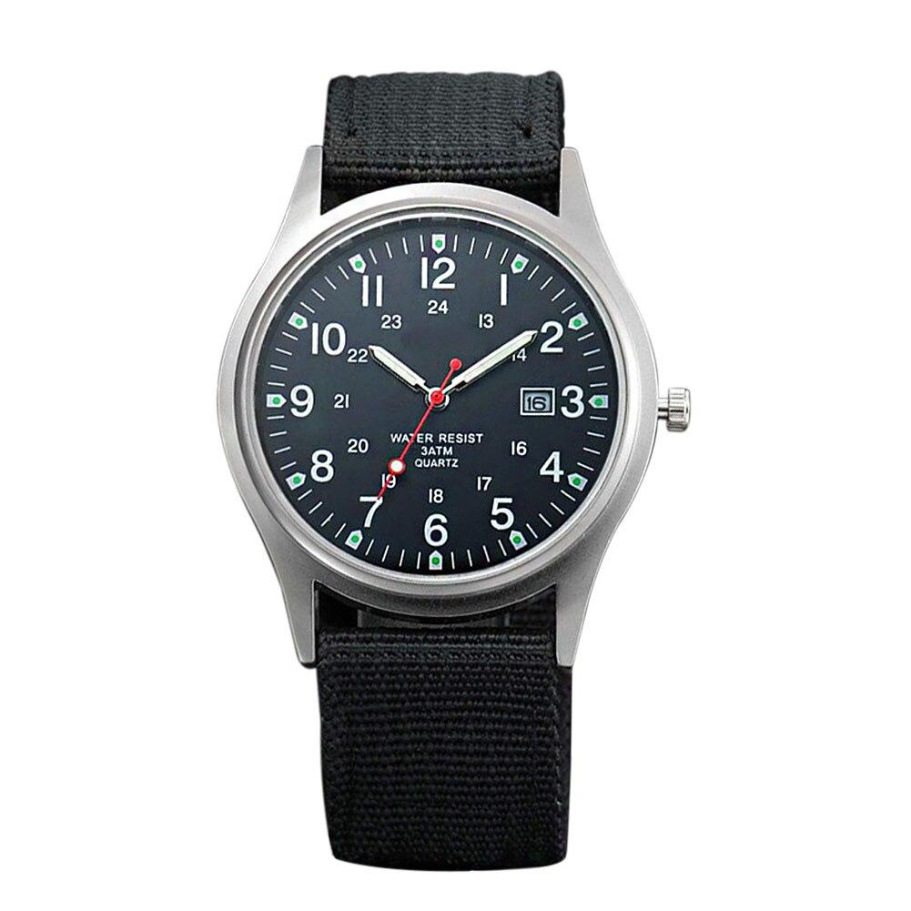 Fashion Men Military Watch Quartz Analog Clock Canvas Wristband Sports Army Waterproof Wristwatch ~ @88 LXH