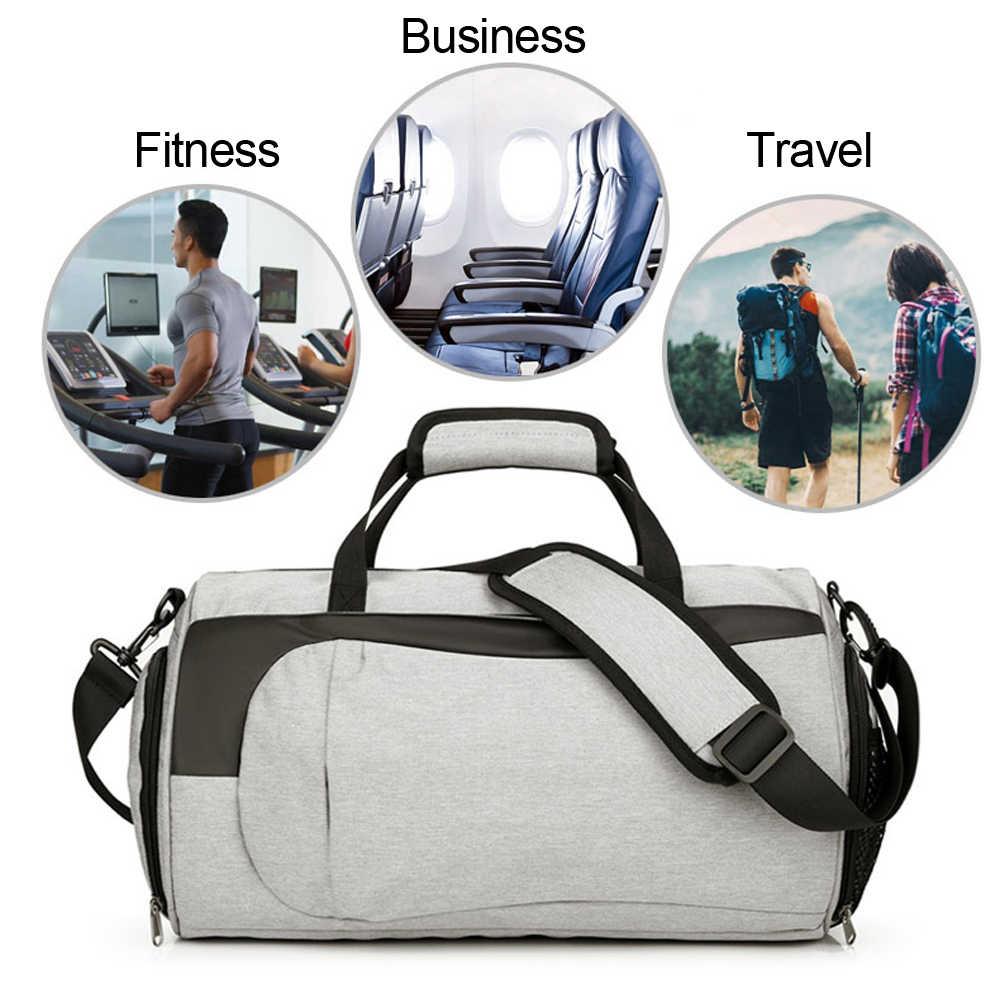 Spor çantaları için eğitim çantası Tas erkek kadın spor salonu seyahat el çantası spor açık spor yüzmek kuru ıslak Yoga kadınlar için