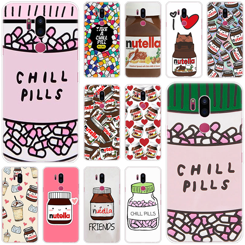 Chills Pills Chocolate Nutella Case For LG G5 G6 Mini G7 G8 G8S V20 V30 V40 V50 Thinq Q6 Q7 Q8 Q9 Q60 W10 W30 Aristo X Power 2 3