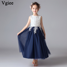 Vgiee  Kids Dresses for Girls Baby Girl Clothes Ankle-Length Sleeveless Dress Little Clothing CC592
