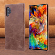 Vintage Matte Genuine Leather Case For Samsung Galaxy Note 10 Plus Back Cover Case For Samsung Note10  Phone Coque Housing Bag x level case for samsung galaxy note 10 original liquid silicone back phone cover for samsung note 10 plus case note10