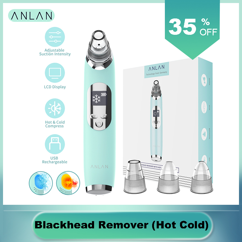 Blackhead Remover Hot Cold Facial Cleaner Deep Pore Acne Pimple Removal Vacuum Suction Diamond Beauty Tool Face SPA Skin Care