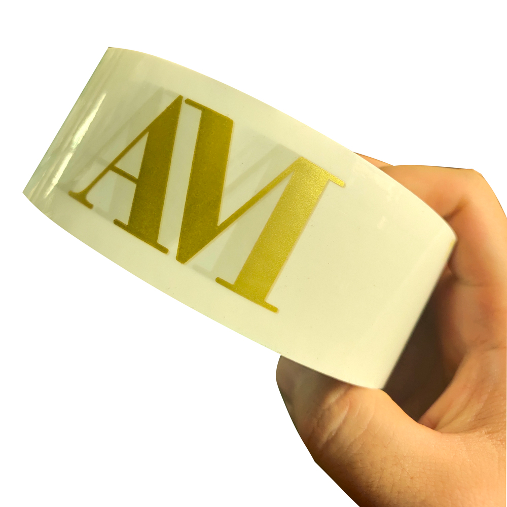 Custom Carton Tape Personalize Logo Sealing Tapes White Backgorund and Gold Patterns 45mm*100m