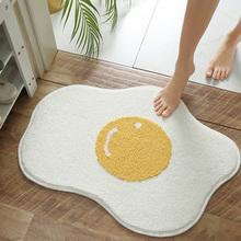 Twórczy jajko dywanik łazienkowy śmieszne wejście dywan dywaniki dywaniki domowe dywaniki wejściowe dywaniki dywaniki dekoracje domowe w stylu nordyckim tanie tanio Dorosłych Anti-slip ORIENTAL Zakończył dywan (szt) cartoon Drukowane Nowoczesne Salon Maszyna wykonana Podłogi bath
