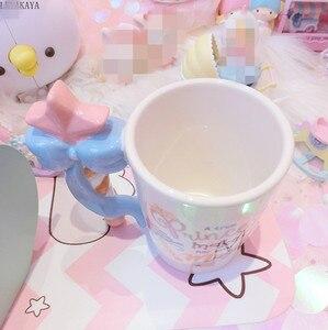 Image 3 - 201 300ml fée princesse baguette magique poignée tasse belle bande dessinée Action Figure imprimé en céramique café thé tasse filles anniversaire cadeau