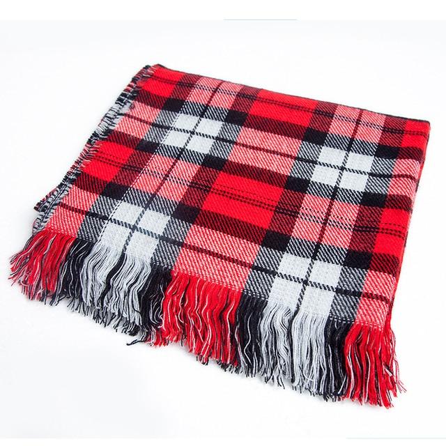 [FEILEDIS] 2020 luxury Plaid Winter Scarf Women Warm Foulard Solid Scarves Fashion Casual Scarfs Cashmere FD1001 10