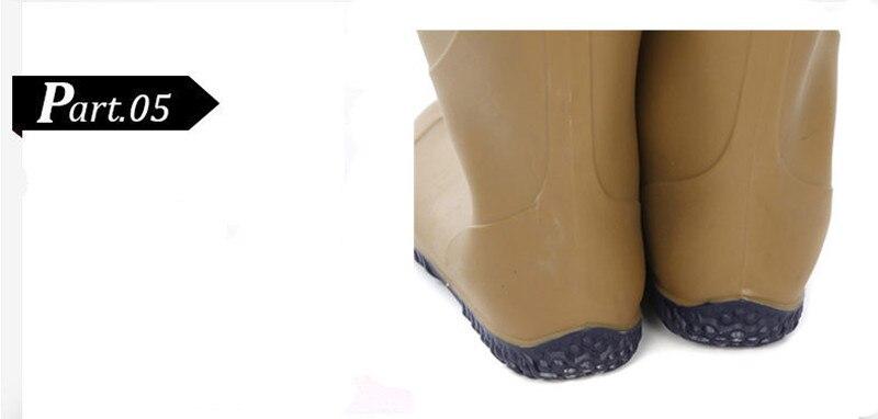 Camuflagem Limícolas Pesca Wader PVC Sapatos de