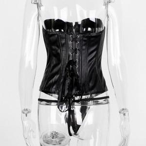 Image 5 - Hugcitar 2020 עור מפוצל גוף shaper סקסי חולצת סטרפלס אביב נשים מועדון חג תלבושות streetwear