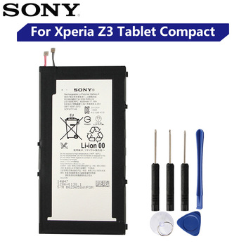 Original Replacement Sony Tablet Battery LIS1569ERPC For SONY Xperia Z3 Tablet Compact Genuine Tablet Battery 4500mAh sony original replacement phone battery for sony xperia c5 ultra e5553 z3 z4 lis1579erpc authenic rechargeable battery 2930mah