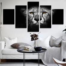 5 шт постер с животными черно белый леопард может быть настроен