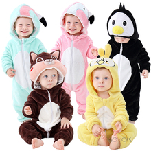 New Baby Pajamas Cartoon Unicorn Clothes for Sleeping Girl Romper Kids Baby Sleepwear Boy Penguin Panda Infant Children Jumpsuit