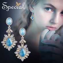 Special Brand vintage style  long earrings clip on for woman 2019 new collection S2271E