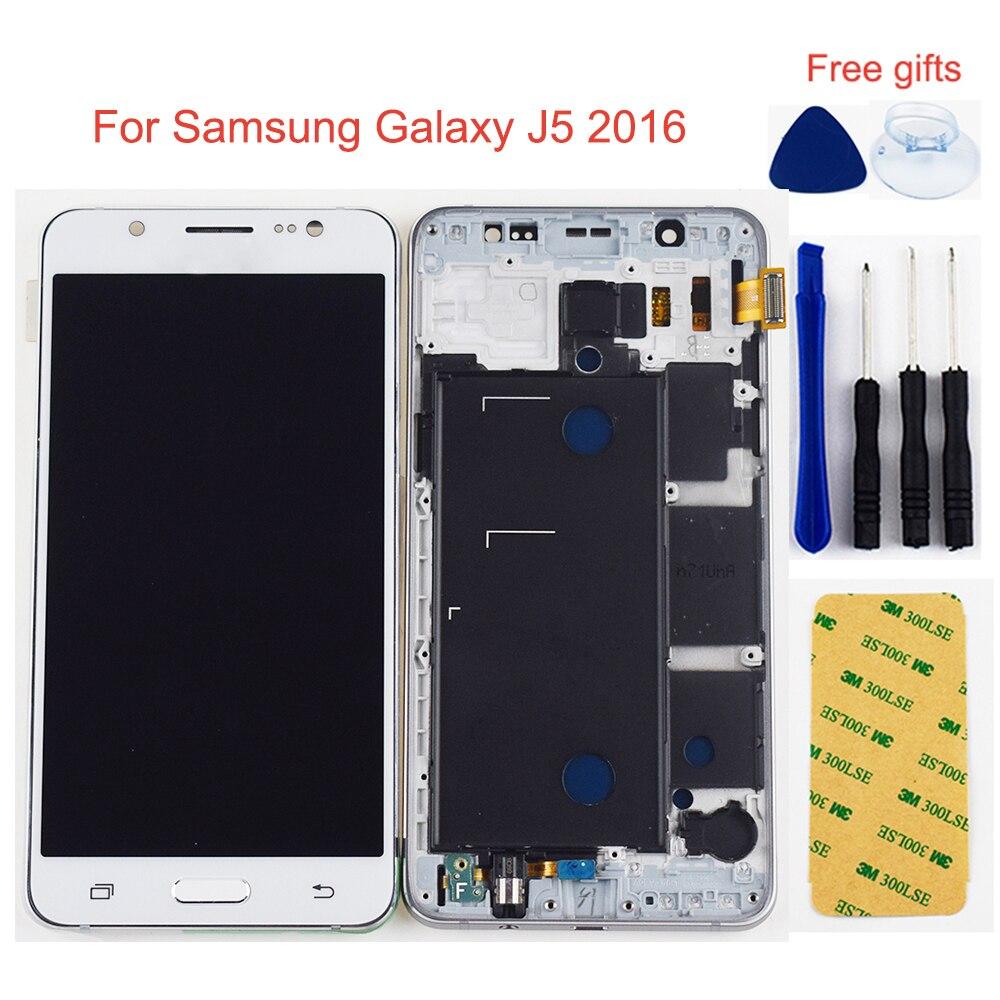 Para Samsung Galaxy SM J5 2016 Display LCD J510 J510F J510FN J510M J510Y/DS Painel LCD + Touch Screen digitador Assembléia Quadro