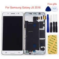 Pour Samsung Galaxy J5 2016 écran LCD J510 SM J510F J510FN J510M J510Y/DS panneau LCD + écran tactile cadre d'assemblage numériseur