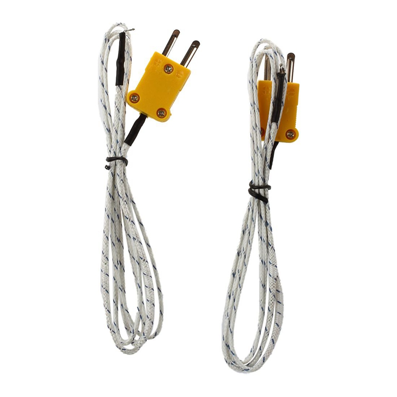 2 Pcs -50-204C Fork Terminal K Type Thermocouple Probe Temperature Sensor