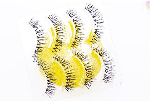 YOKPN New Japanese Pointed Tail False Eyelashes Super Natural Simulation Eye Makeup Eyelashes Long-lasting Eye Makeup Tools 4