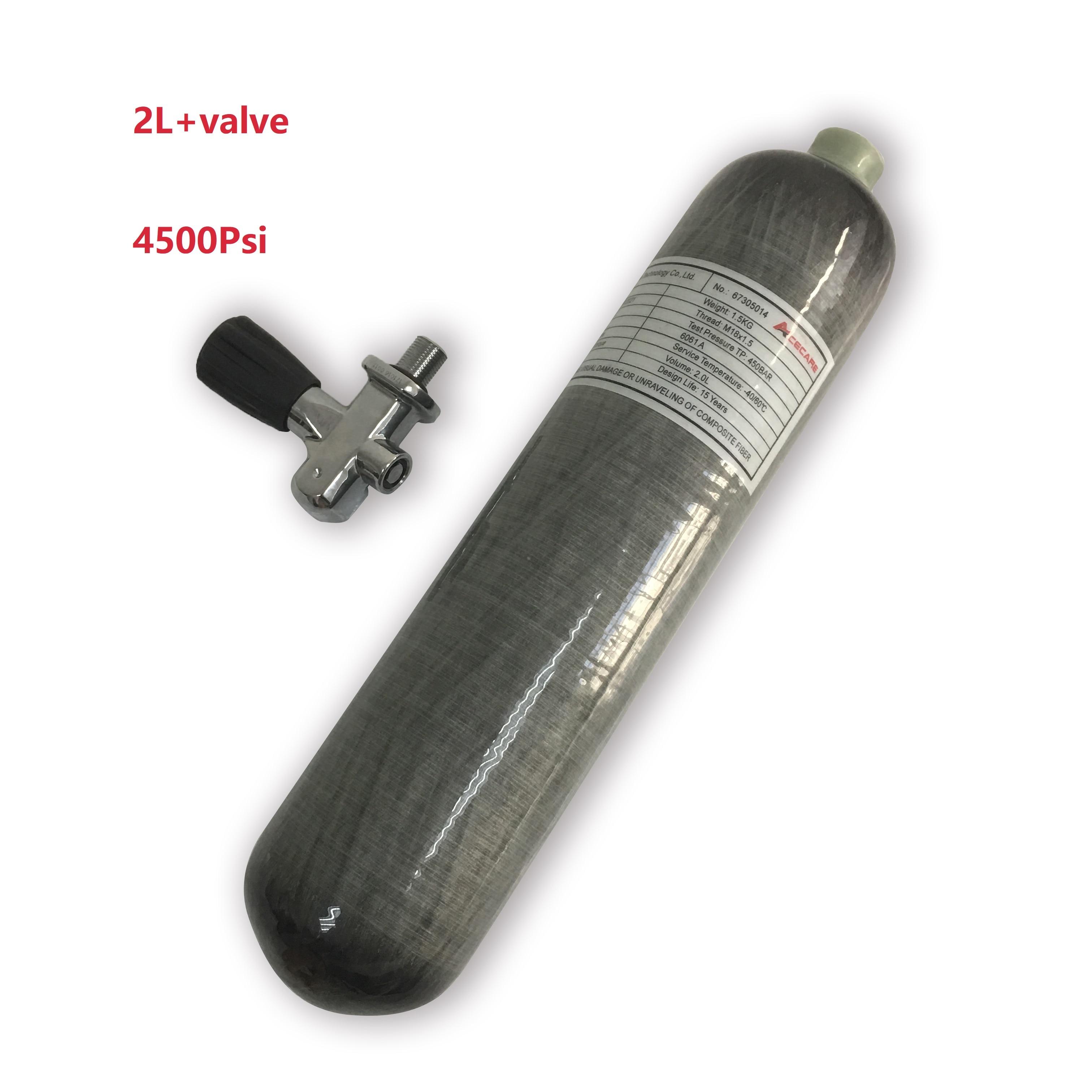 AC10251 Acecare Mini Diving Scuba 2L Pcp Tank CE Paintball/Hunt M18*1.5 Pcp/Carbon Fiber Cylinder Oxygen Hpa Tank 4500 Condor
