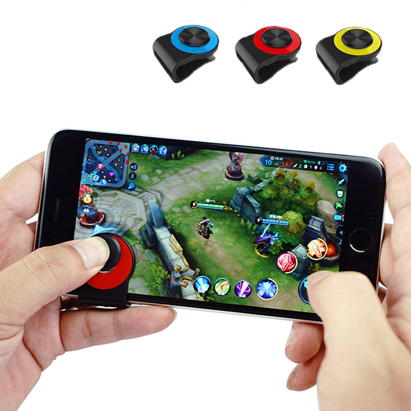 Game Joystick Mini Controller for iPhone Android Tablet Smartphone Touch Screen Joypad Triggers Clip-On Clamp joystick for phone image