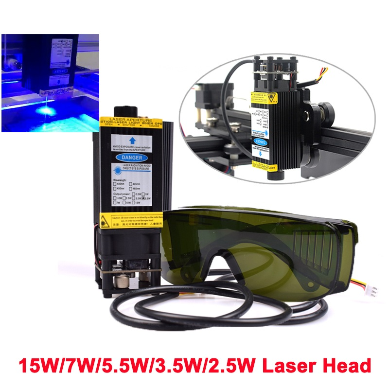 7W oxlasers 2.5W 3W 5W 7W 450nm focusable blue Laser Module Laser Engraver part DIY Laser Head with PWM