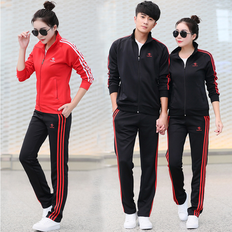 2019 Autumn Sports Set Men And Women Celebrity Style Loose Straight Casual Athletic Pants Basketball Badminton Clothing Training