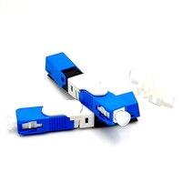 100PCS/Lot FTTH ESC250D SC APC and SC UPC Single Mode Fiber Optic Quick Connector FTTH SM Optic Fast Connector