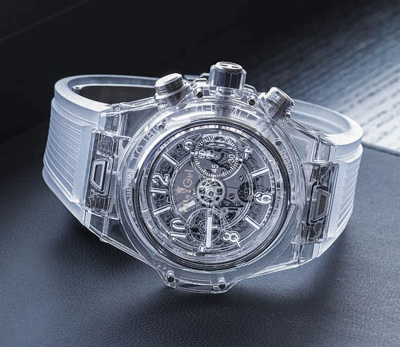 Men Luxury Brand Chronograph White Silver Plastic Stainless Steel Sapphire Glass Back See Through Luminous Watches Stopwatch AAA