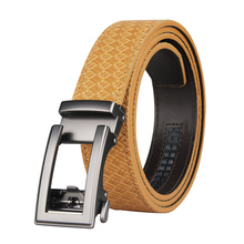Brand Brown Leather Belt for Men Luxury Brand Fashion Automa