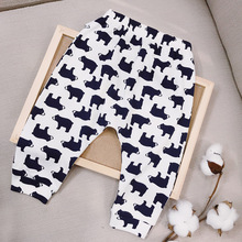 3 – 24M Baby Pants Spring and Autumn Thin Trousers Boys Pure Cotton Outdoorwear Kids Fashionable Cartoon Bear Casual Clothing
