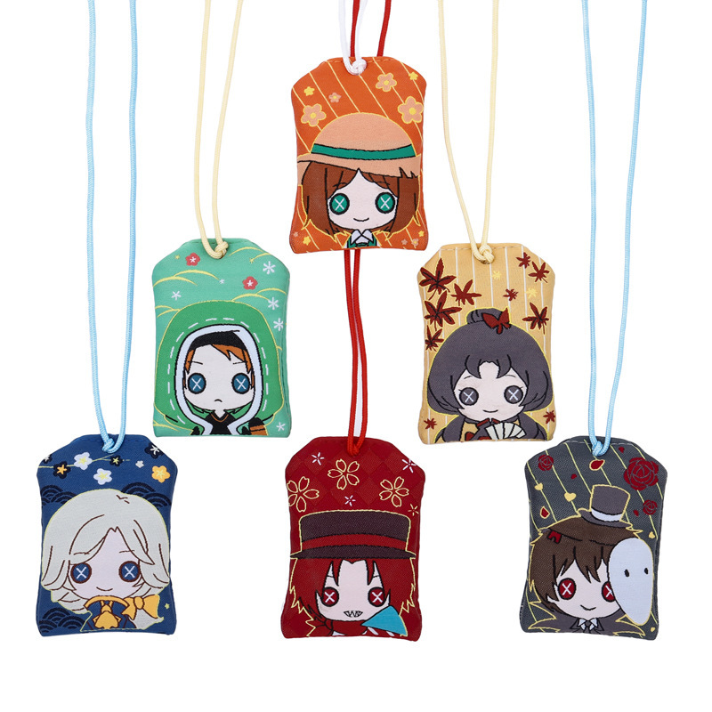 Identity V Keychain Omamori Joker Michiko Emma Woods Joseph Desaulniers Naib Subedar Cute Fun Cartoon Linen Lucky Bag Japanese