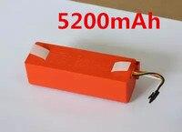 Original 5200 mah robótico 18650 bateria de reposição para xiaomi mi robô roborock s55 s6 xiaomi vácuo 2 s50|Peças p/ aspirador de pó| |  -