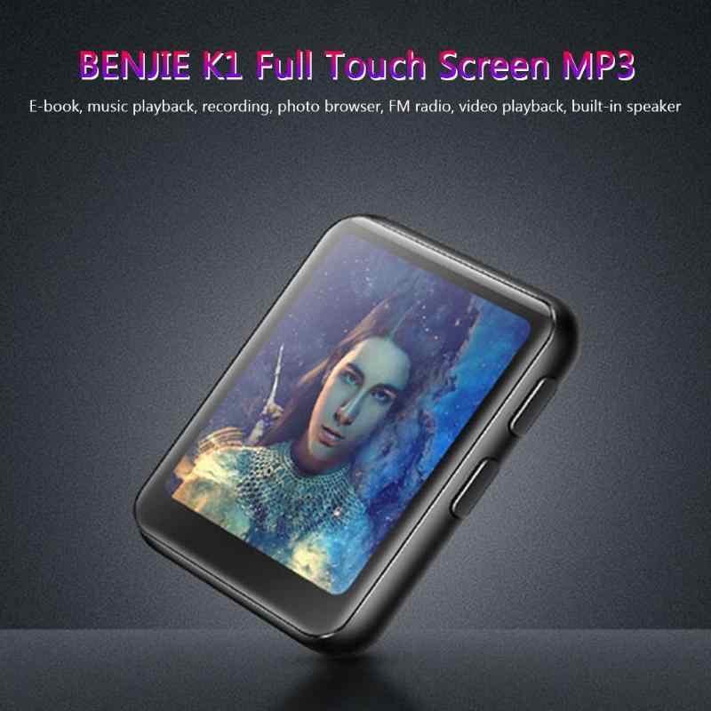 BENJIE K1 MP3 音楽プレーヤー Bluetooth ミニクリップ 1.5 インチのタッチスクリーン Fm ラジオスピーカー MP3 音楽プレーヤーランニング