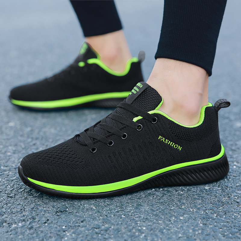 Shoes for Men Summer Mesh Men Sneakers Lace Up Low Top Hollow Footwear Breathable Sale Sport Trainers Zapatillas Hombre 4