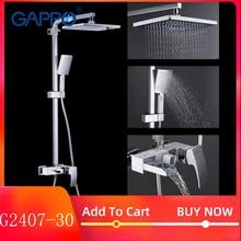 GAPPO duş sistemi pirinç banyo duş seti duvara monte masajlı duş başlığı banyo mikser banyo duş bataryası musluklar G2407 30