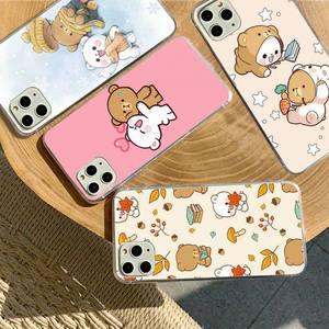 Image 1 - YNDFCNB Milk Mocha bear Phone Case for iPhone 11 12 pro XS MAX 8 7 6 6S Plus X 5S SE 2020 XR fundas