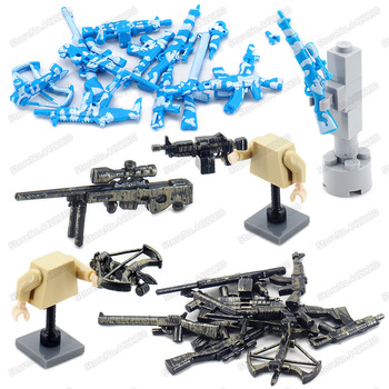 Military Weapons Building Block Figures Equipment Diy Land And Sea Army Camouflage Special Gun Model WW2 Moc Christmas Gift Toys military figures maxine heavy machine gun weapons building block equipment diy ww2 army battlefield model moc christmas gift toy