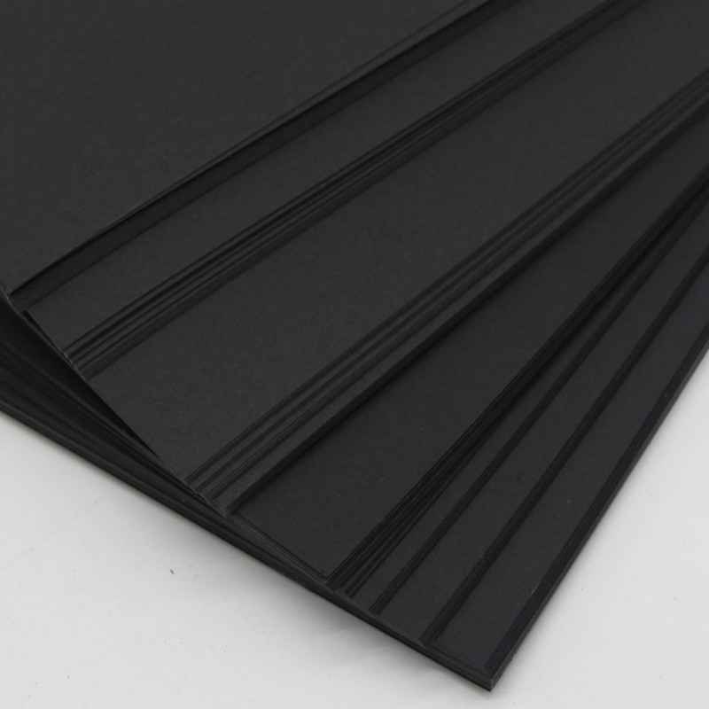 Blank Black Paper Children DIY Graffiti Blackcard Paper A4 A3 4K Greeting Postcard Cardboard Scrapbook Drawing Paper 80/120/350g