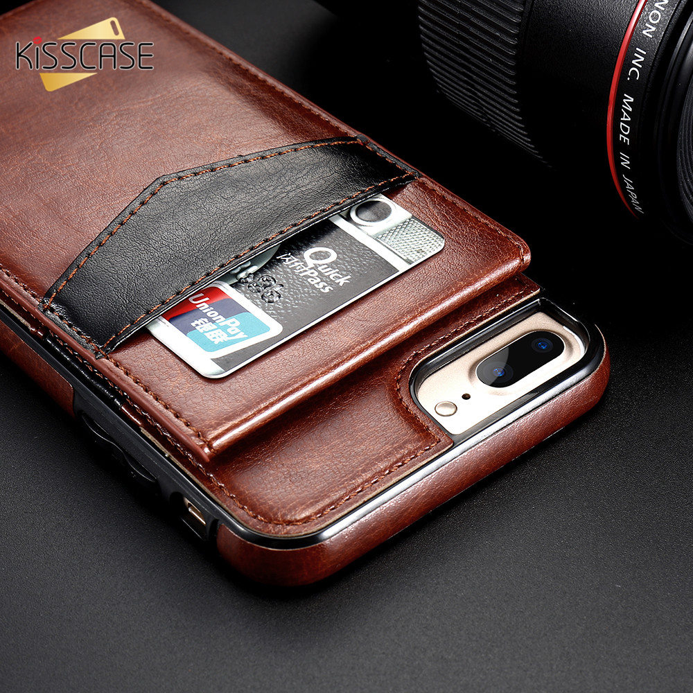 H75619c295ee9490281924d9ba742479at KISSCASE Vertical Flip Card Holder Leather Case For iPhone 6s Cover For iPhone 7 Wallet Case 8 XR 11PRO MAX 11 чехол на айфон 6s