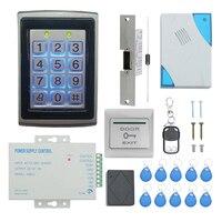 TZF005 04 rfid teclado sistema de controle acesso kit fechadura da porta 125 khz em cartão  entrada da porta sistema controle acesso kit senha host con   -