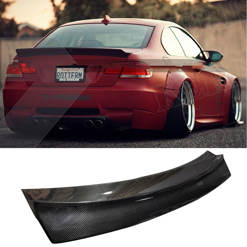 Carbon Fiber Trunk Spoiler Wing FOR BMW E92 335i 328i M3 2007-2012 LB Style Highkick image