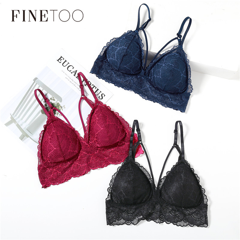 Sexy Backless Lace Bralette Deep V Lace Women Bra French Style Bralette Wireless Thin Underwear Sexy Lingerie Girls 3/4 Cup Bras