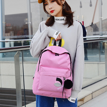 High Quality New Arrival Women's Canvas Backpack School bag For Girls Rucksack New Design Backpacks School bags Travel Bags new cartoon cute genuine hello kitty backpack hellokitty bag high quality pu pink school bags melody travel bag for girls gift